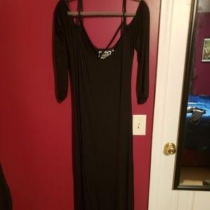 Killstar black harness maxi dress size XXL